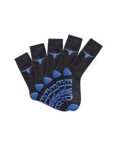 Elwood Crew Work Socks - 5 Pack