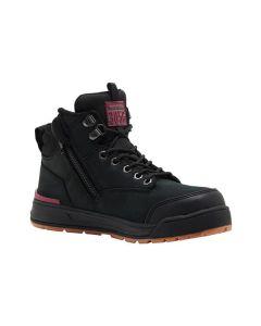 Hard Yakka Women's 3056 Lace Zip Sided Safety Boot