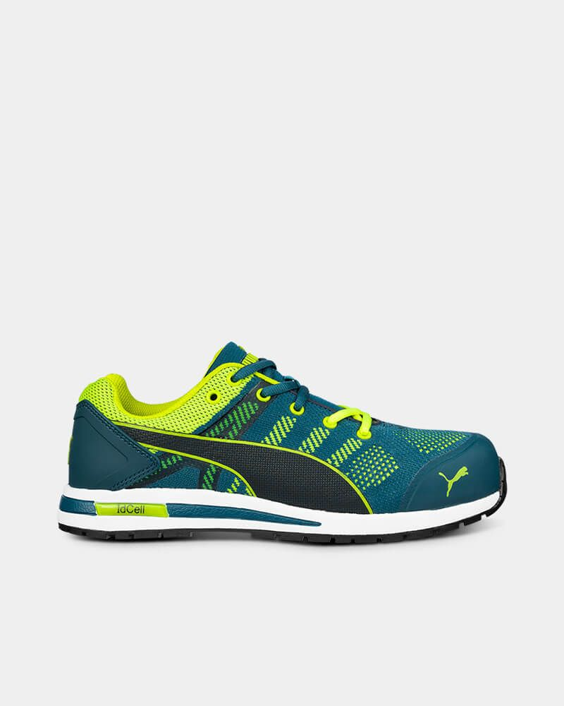 Puma Elevate Knit Safety Shoe - Green/Blue